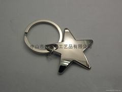 創意簡約款式星星禮品挂飾金屬鑰匙扣