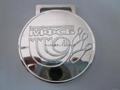 廠家專業生產圓形保齡球metal簡潔獎牌