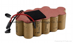 Rechargeable nicd SC 1600mah 19.2v battery for vacuum cleaner
