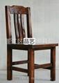 品艺家具品牌碳化实木餐椅