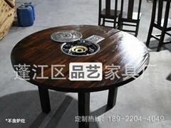 火鍋店實木餐桌 餐飲傢具