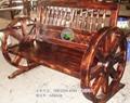 品艺家具松木实木休闲车轮椅 2