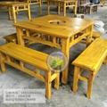 品艺方形餐桌椅组合八仙桌椅