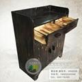 古典原木碳化实木家具茶水柜