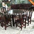 明式仿古实木餐厅桌椅组合