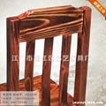 碳化家具防腐木椅凳子定制批发 2