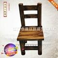 品艺餐厅家具厂家直销全实木碳化餐椅