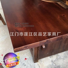 Square hot pot solid wood dining table dining room furniture