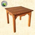 波浪形四方碳化木桌