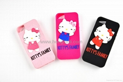 Beautiful Silicone Cartoon Smart Phone Case Eco-Friendly