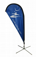 Heavy duty flying flag banner for  trade show
