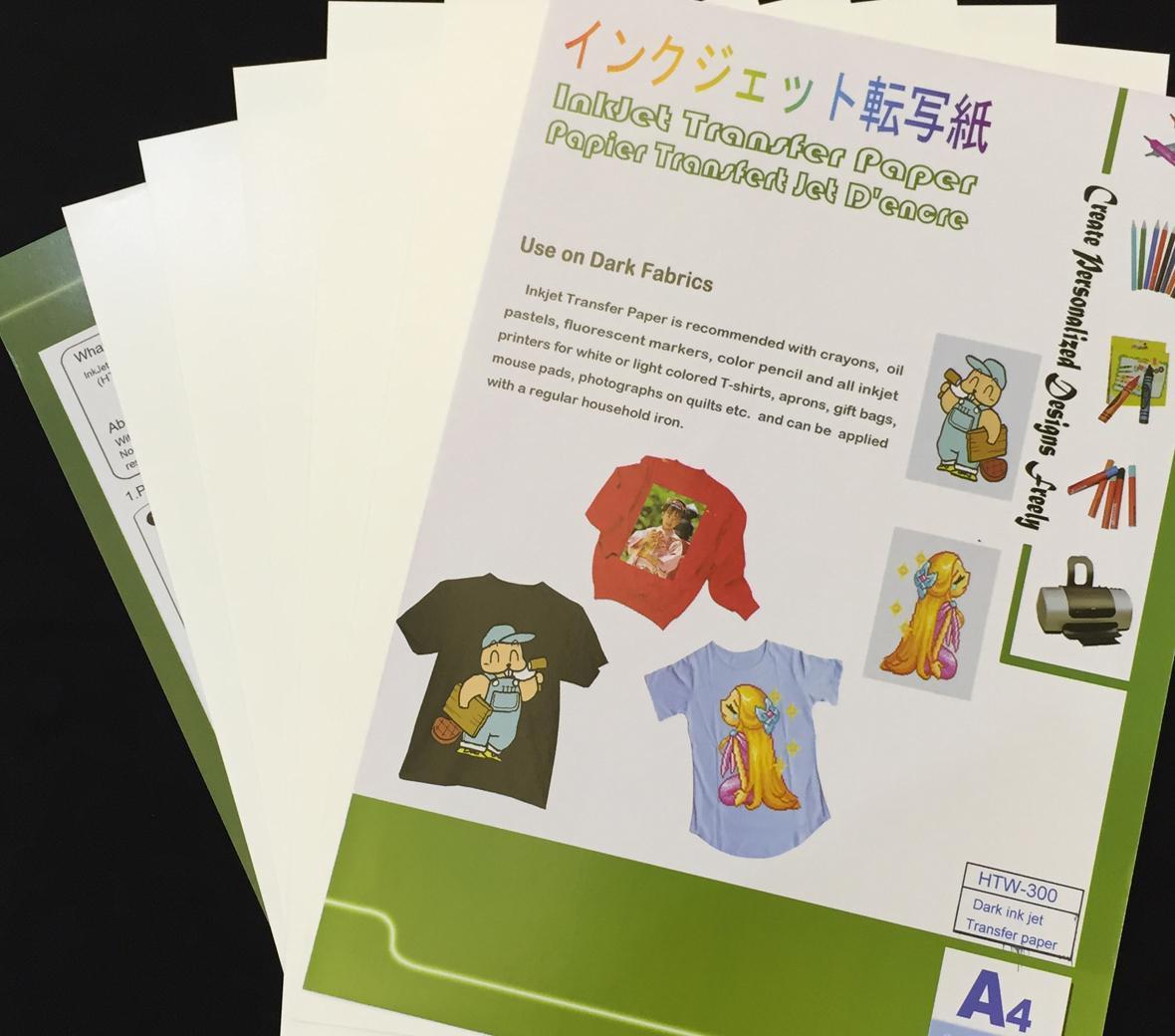 Alizarin Panda Dark InkJet Transfer Paper for 100% cotton T-shirts 2