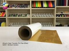 Alizarin Brilliant Golden Heat Transfer PU Flex Rolls Oem-Alizarin(GD911)