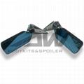 碳纖子彈鏡 汽車改裝通用藍鏡面