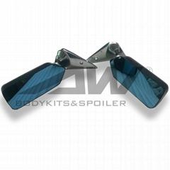 碳纖子彈鏡 汽車改裝通用藍鏡面后視鏡 防炫光子彈鏡