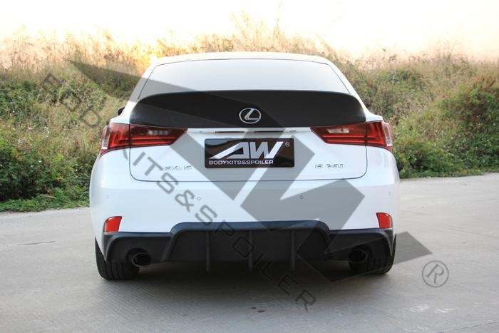 Lexus IS250F bodykits, after lip, side skirts, rear wing, small tail 2