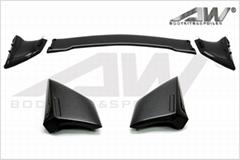 本田八代思域  三段式  碳纖維 尾翼 A款