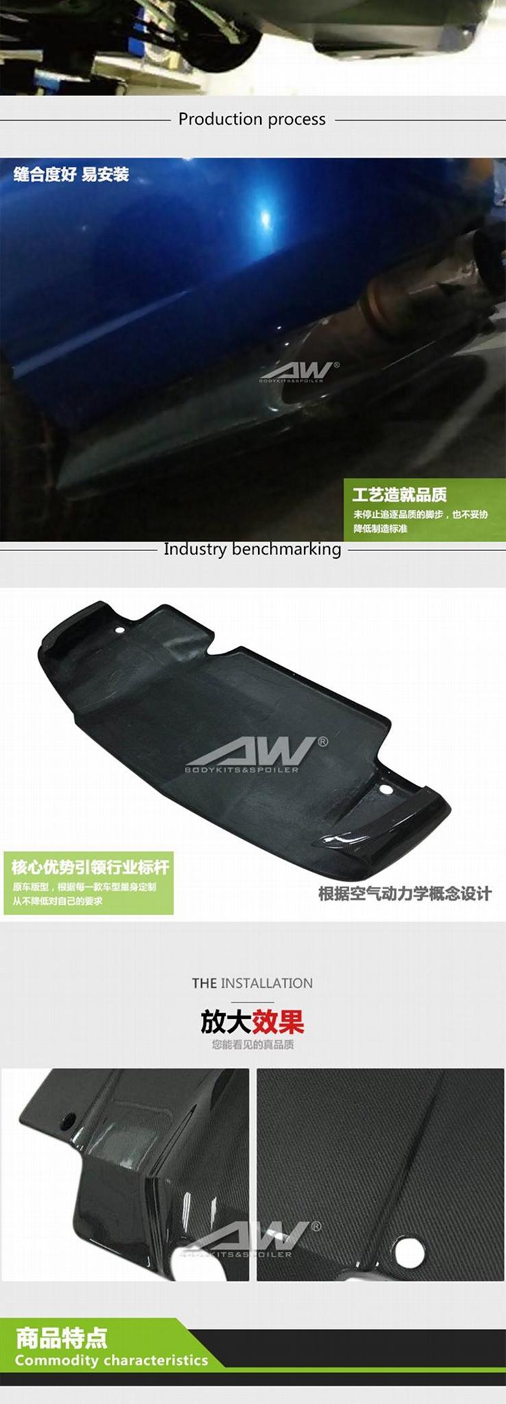 Subaru Impreza 8/9  carbon fibre Rear bumper  bumper lip  Car modification 4