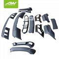 BMW X5 E70 Car modification Body Kits  rear roof wing spoiler Side skirt 2
