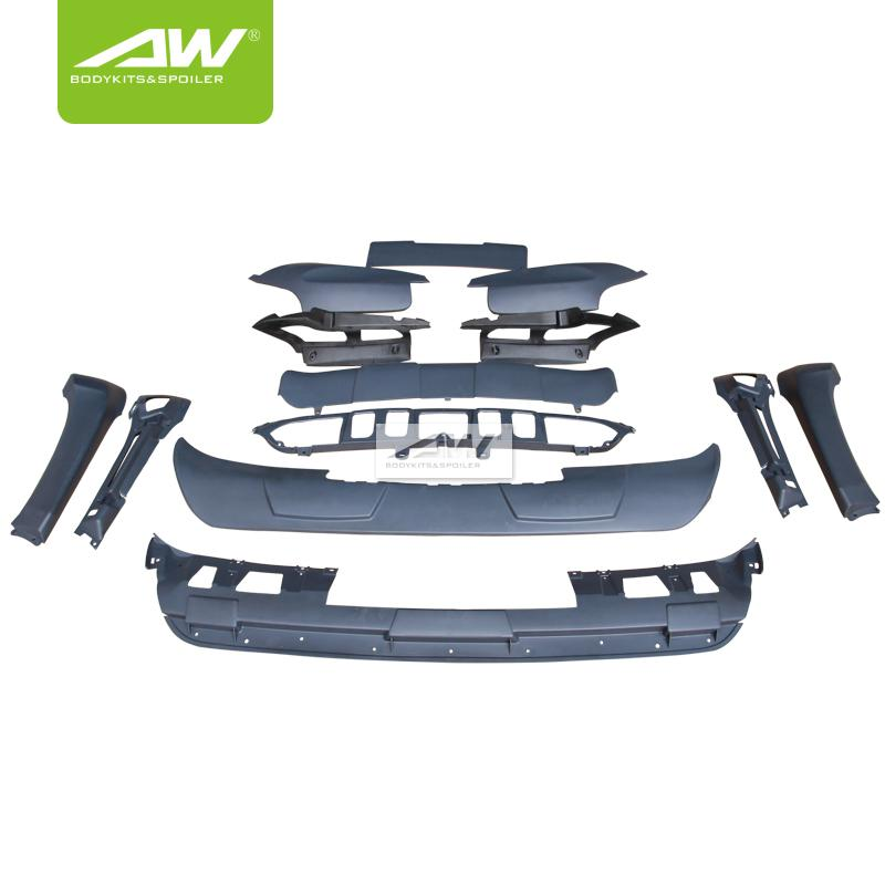 BMW X5 E70 Car modification Body Kits  rear roof wing spoiler Side skirt 3