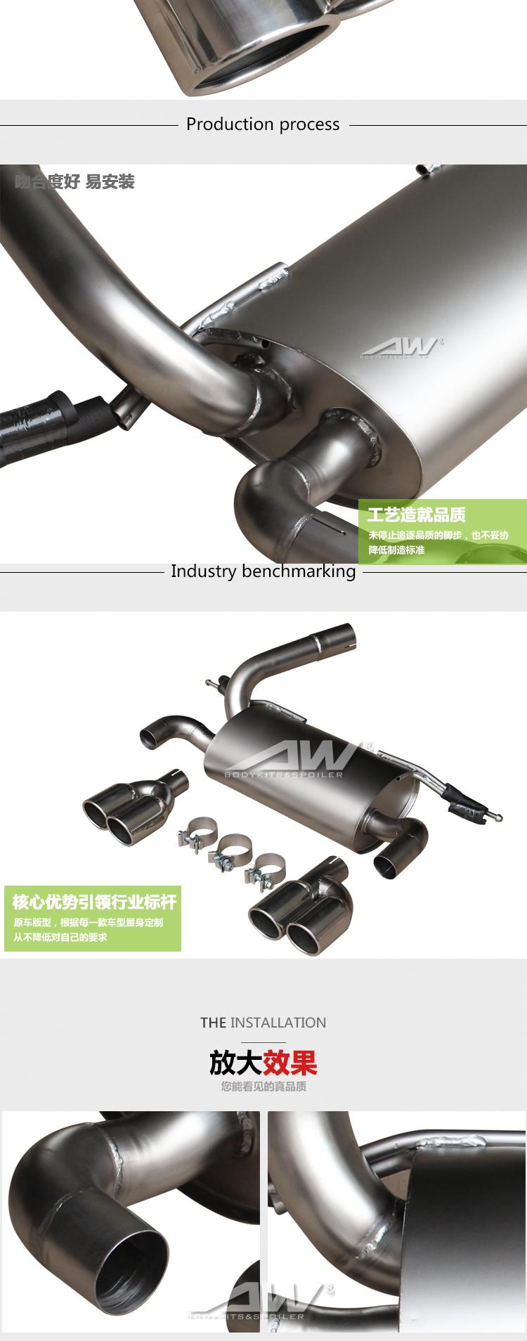 BMW F30 12-18 exhaust pipe  Car modification 6