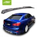 Lexus IS350 carbon fibre Roof Wing Body Kits Car modification 3