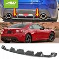 Rear Bumper Diffuser Lip 2013-2019 For