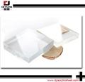Transparent colored plexiglass cut to