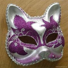 直销新款猫脸手绘面具夜店表演道具