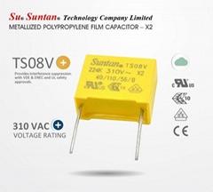 Suntan TS08V 310VAC Metallized Polypropylene Film Capacitor - X2