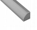 Straight corner whiter aluminum channel