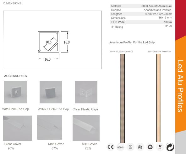 square led aluminium profile for led strip 4
