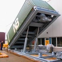 集装箱液压卸车平台翻转机
