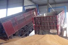 散粮卸车翻板液压卸车平台