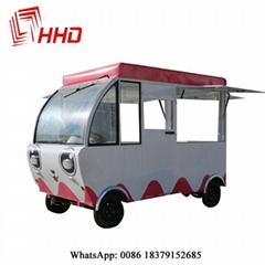 electric mobile heated food carts food trucks with ovens