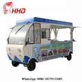 electric mobile heated food carts food trucks with ovens 4