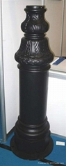 Customized Aluminum die casting street light  post  lamp post base  AL101