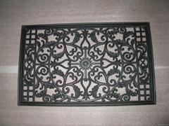 Expoxy coated aluminum die casting window decorative  flowers