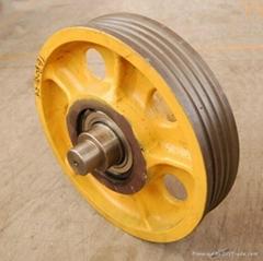 Customized  iron or aluminum casting V Belt pulley wheel 1V-8V DN100-DN800
