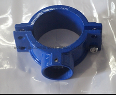 Customzied iron casting saddles clamps  pipe fitting
