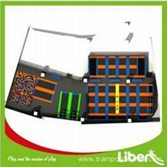 Customized Long Large Indoor Trampoline with Enclosure