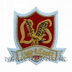 Custom Bullion Wire Embroidered Badge