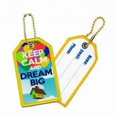 Embroidery+Sublimation Luggage Tag