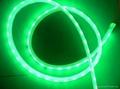 供應LED5050綠光軟燈條 60燈燈/米 IP65防水12V