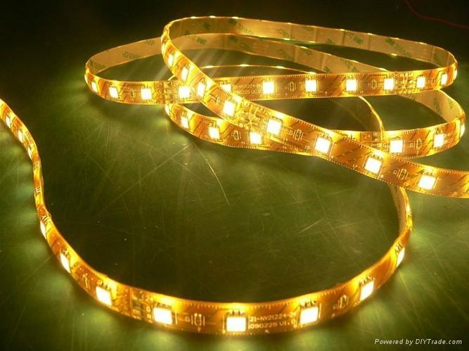 供應LED5050曖白光軟燈條 60燈燈/米 IP65防水12V 3