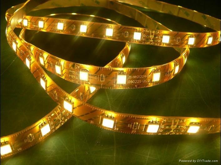 供應LED5050曖白光軟燈條 60燈燈/米 IP65防水12V 5