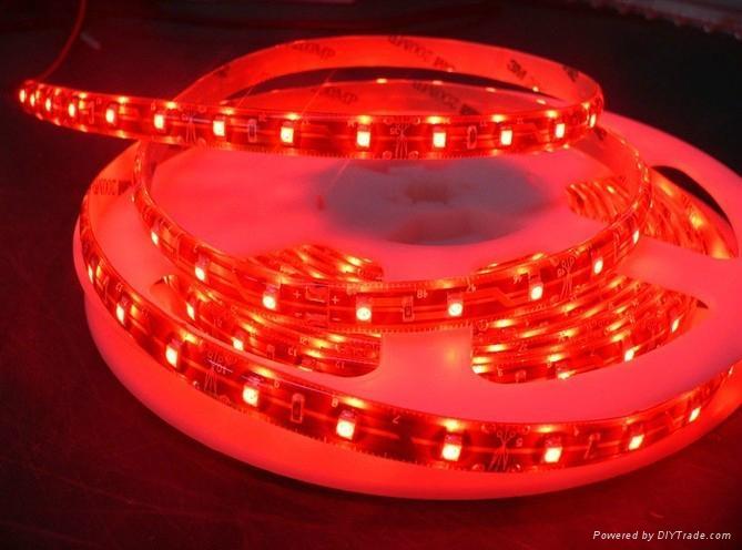 供應LED5050紅光軟燈條 60燈燈/米 IP65防水12V 4