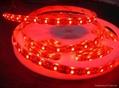 供應LED5050紅光軟燈條 60燈燈/米 IP65防水12V