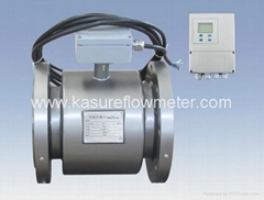 Remote Electromagnetic Flow Meter Rubber liner with 4~20 mA O/P
