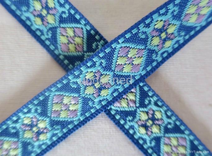 民族风彩色提花织带 2